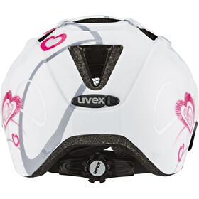 UVEX Finale Cykelhjelm Børn, heart white pink